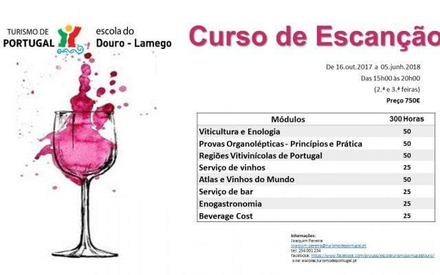 Curso de Escanção, Escola de Hotelaria e Turismo do Douro