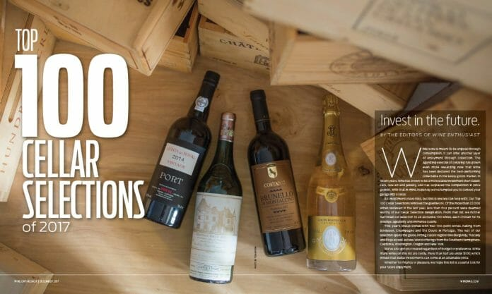 Wine Enthusiast Top 100 Cellar Selections 2017