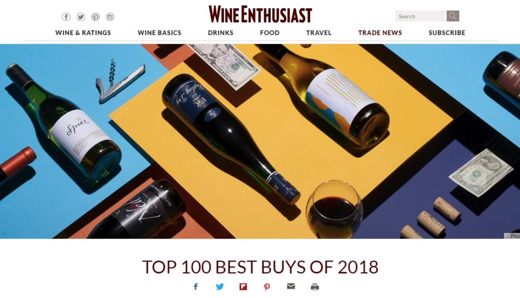 Top 100 Best Buys Wine Enthusiast