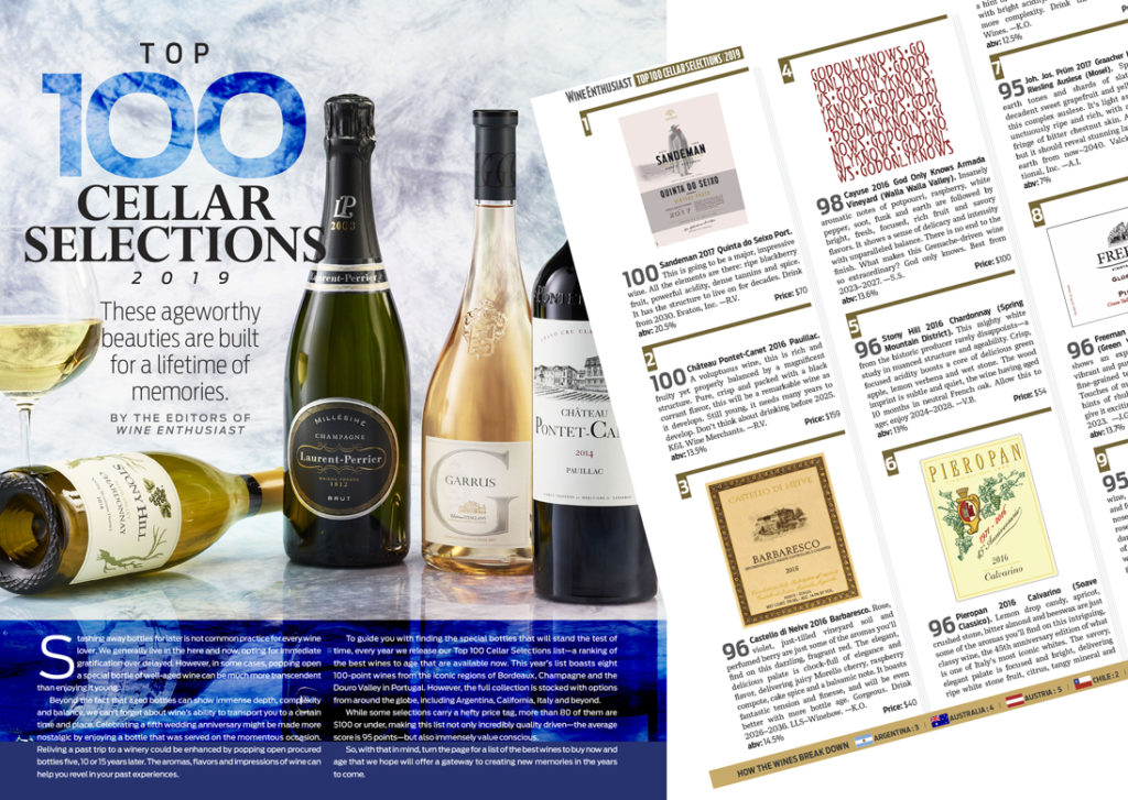 Wine Enthusiast top 100 Cellar Selections