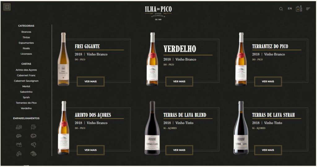 Loja on-line Pico Wines