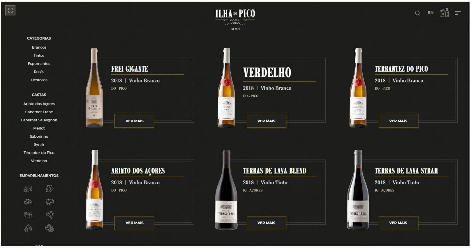 Loja on-line Pico Wines