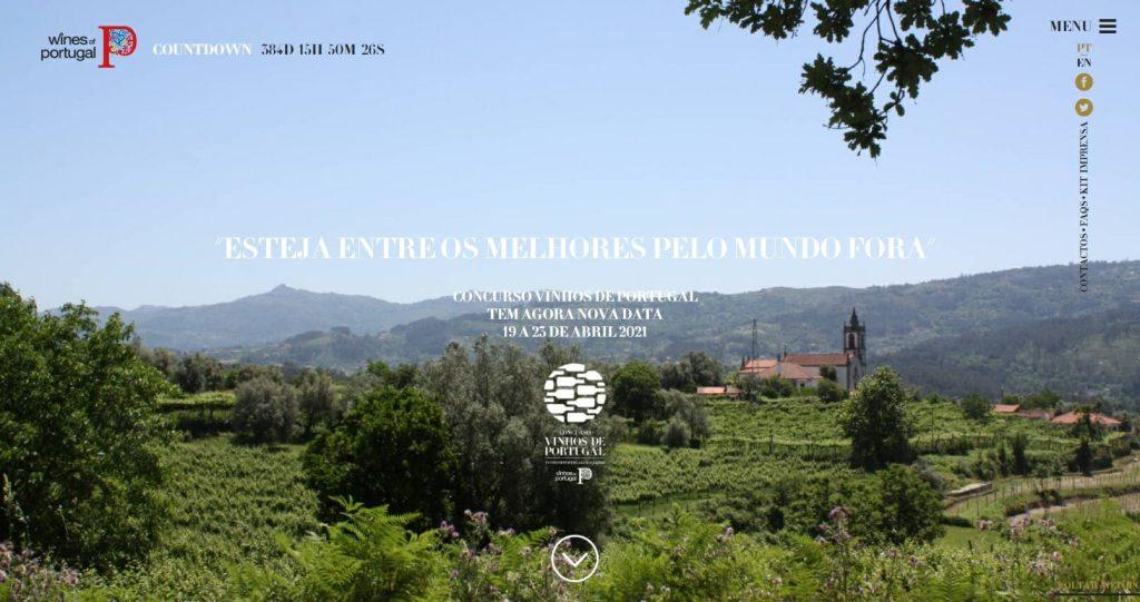 pagina de entrada do Concurso Vinhos de Portugal