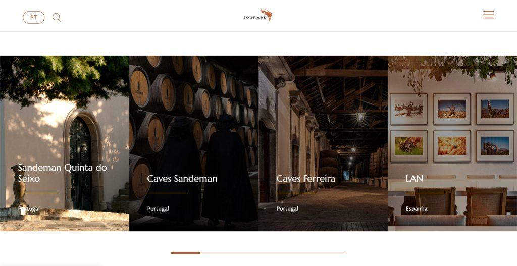 Sogrape novo website